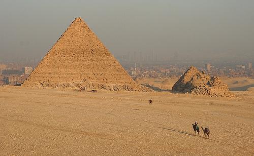 camels and pyramids, yup