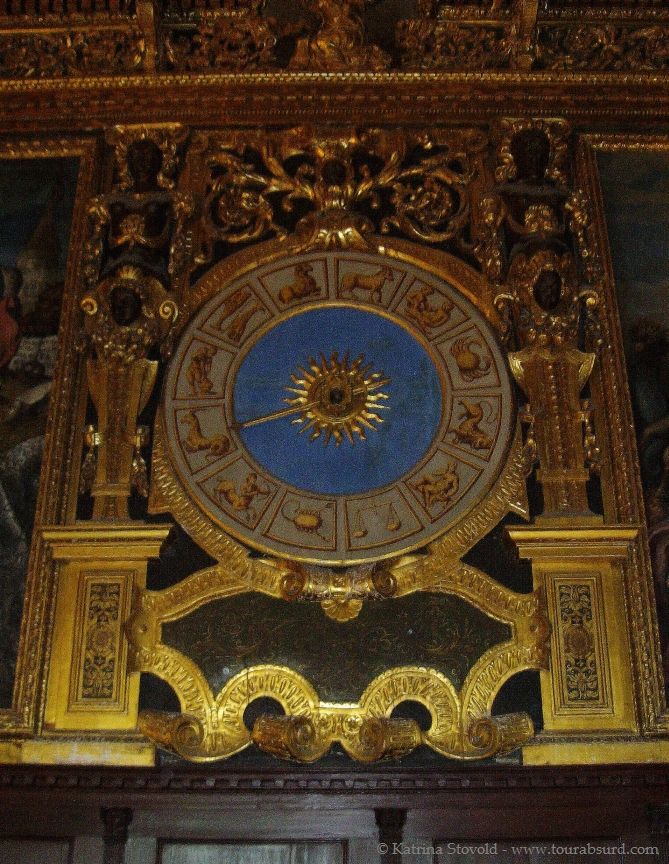 Astrological clock at Palazzo Ducale in Venice, Italy.