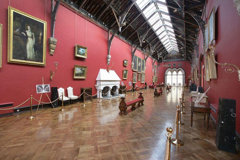 Kilkenny Castle Kilkenny City Ireland Interior Long Gallery.