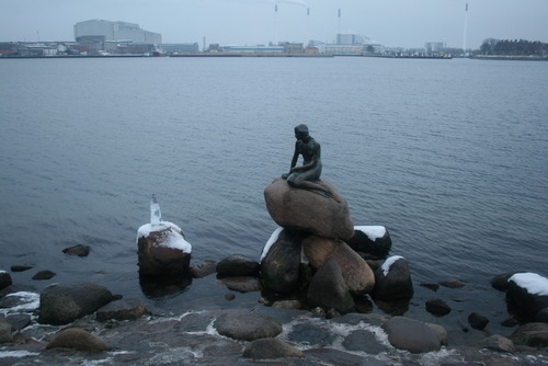 Hans Christian Andersen's Little Mermaid in Copenhagen, Denmark