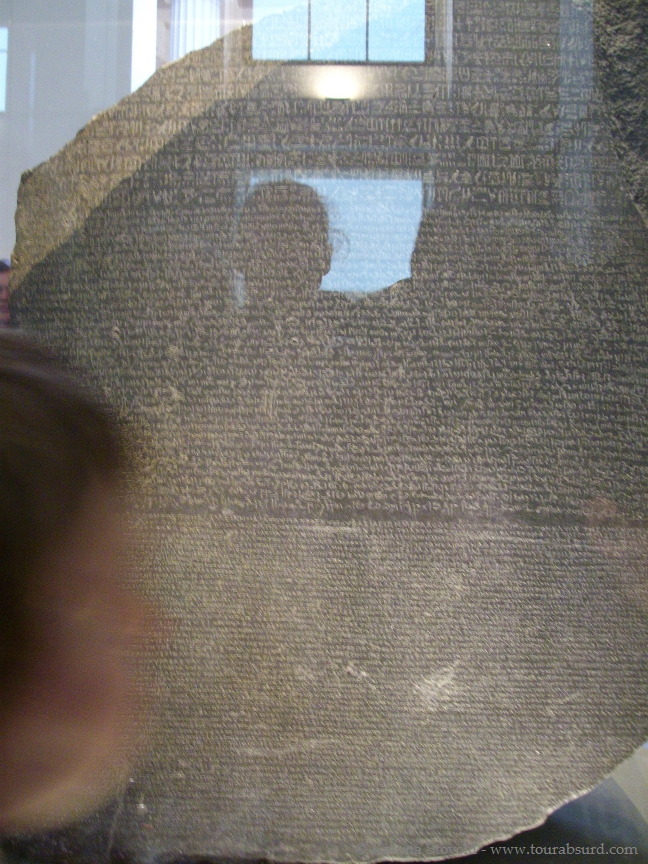 The Rosetta Stone at the British Museum in London