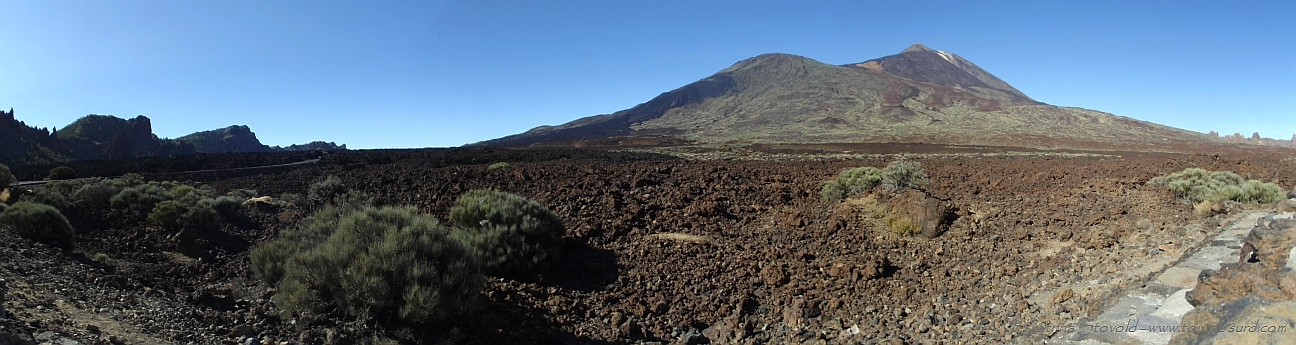 Panoramic shot of El Teide on Tenerife