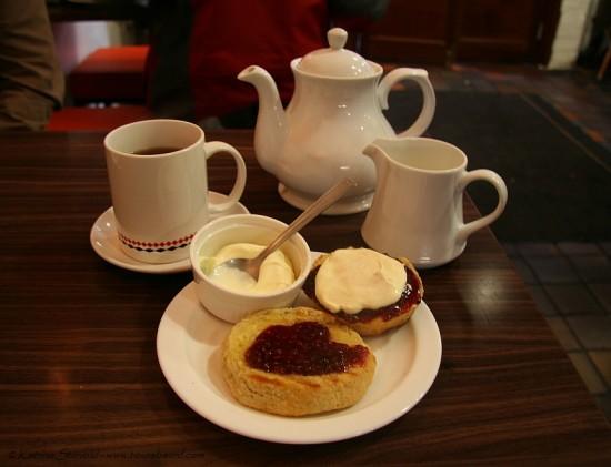 tea and scones in Cork, Ireland