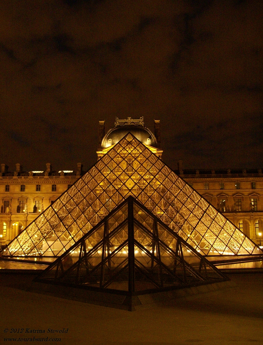 Louvre at night, Paris, France