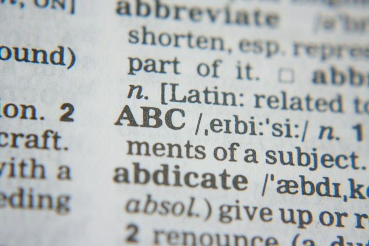 A picture of text in a dictionary.