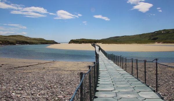 Barleycove Beach floating bridge