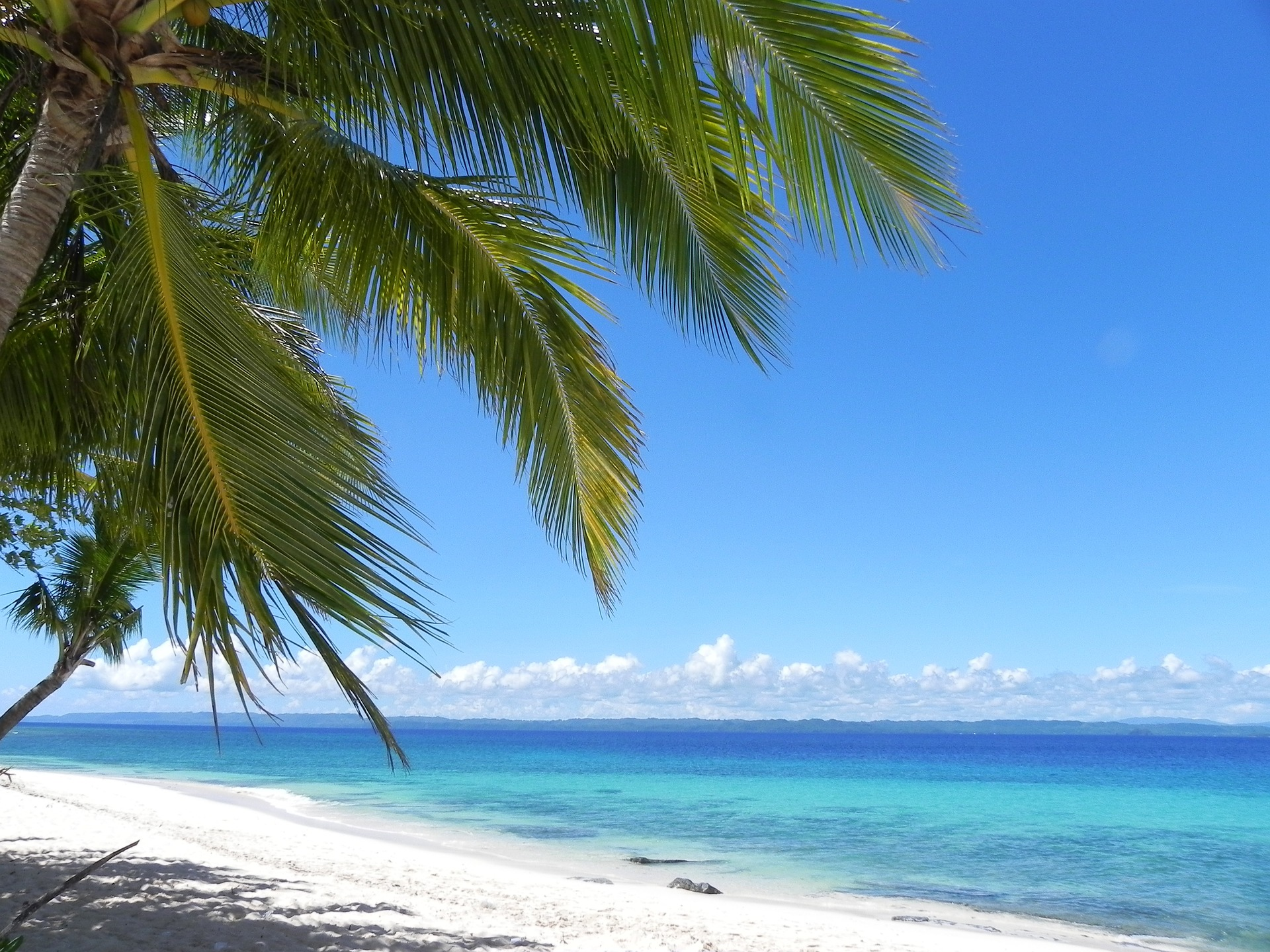 white sandy beach in mindanao, philippines