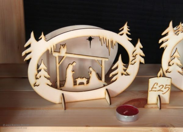 small carved nativity set